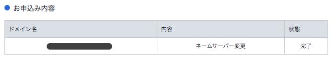 お名前.comにエックスサーバーのネームサーバー情報を登録完了