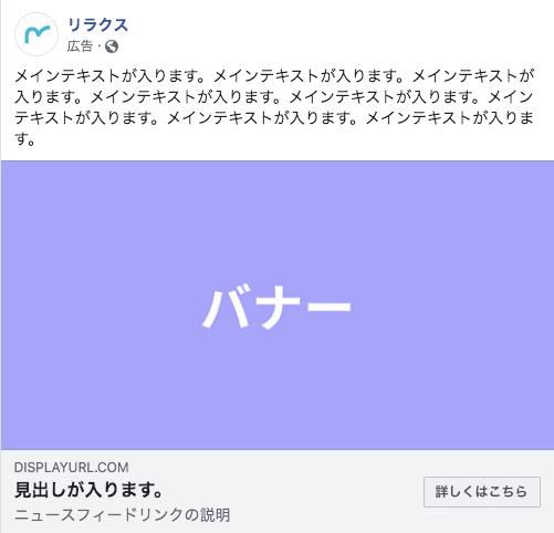 Facebook広告の構成